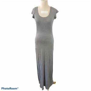 VELVET TORCH Grey Maxi Dress